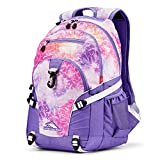 High Sierra Loop Backpack, Unicorn Clouds/Lavender/White, 19 x 13.5 x 8.5-Inch