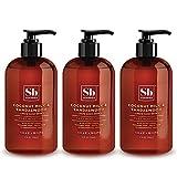 Soapbox Liquid Hand Soap, Coconut Milk & Sandalwood, Moisturizing Hand Wash for Kitchen and Bathroom, 12 Ounce Pump Bottles (Pack of 3)