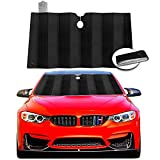 Windshield Sun Shade Visor, Foldable Car Sunshade Reflect and Protect Your Vehicle from UV Rays Sun and Heat, Fits for Cars Trucks SUV (Size 59' x 31.4')