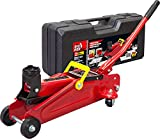 BIG RED T820014S Torin Hydraulic Trolley Floor Jack with Carrying Case, 2 Ton (4,000 lb) Capacity