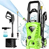 Homdox Electric Pressure Washer, 2500 PSI 1.5 GPM Power Washer, 1800 W High Power Cleaner with 4 Nozzles, Ideal for Car, Home, Garden