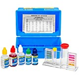 XtremepowerUS 5-Way Swimming Pool Test Kit pH, Chlorine, Bromine, Alkalinity Chemistry Testing with Case