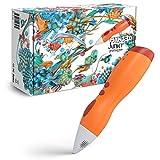 MYNT3D MP030-OG Junior 3D Pen for Kids, Uses Low Temperature 1.75mm PCL Plastic