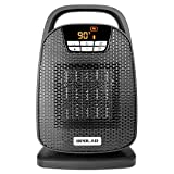 OPOLAR Ceramic Space Heater, Indoor Oscillating Digital Personal Heater, Over-Heat and Tilt Protection, Carrying Handle, 1500/750 Watt, Shut Off and Turn on Timer, Quiet Operation for Home, Office