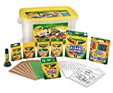 Crayola Super Art Coloring Kit, Tub Colors Vary, Amazon Exclusive, 100+ Pcs, Gift for Kids