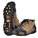 Aliglow Ice Snow Grips Over Shoe/Boot Traction Cleat Spikes Anti Slip Footwear