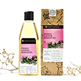 Soulflower Cold Pressed Castor & Rosemary Hair Nourishment Oil Pure and Natural For Hair Growth & Hair Loss, 6.77 Fl.Oz Natural Hair Oil For Unique Shine