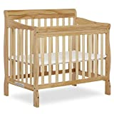 Dream On Me Aden 4-in-1 Convertible Mini Crib in Natural, Greenguard Gold Certified