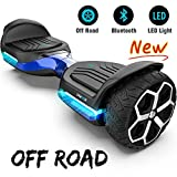 Gyroor T581 Hoverboard 6.5' Off Road All Terrain Hoverboard with Bluetooth Speaker and LED Lights Two-Wheel Self Balancing Hoverboard with UL2272 Certified (Blue)