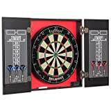 EastPoint Sports Belmont Bristle Dartboard and Cabinet Set - Features Easy Assembly - Complete with All Accessories