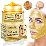 Gold Facial Mask, Peel off Mask, Blackhead Remover Mask with 24K Gold Extract, Anti-Aging, Deep Cleansing Blackhead & Acne Scars, Dirt & Oil, Repairs Uneven Skin Tone