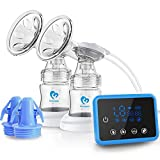 Bellababy Double Electric Breast Feeding Pumps Pain Free Strong Suction Power Touch Panel High Definition Display
