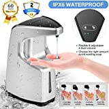 OUYEJ&F Soap Dispenser, Automatic Soap Dispenser Touchless Soap Dispenser for Any Liquid,Waterproof & Adjustable Infrared Motion Sensor Touchless Hand Sanitizer Dispenser Sanitizer Dispenser (Silver)