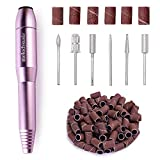 MelodySusie Portable Electric Nail Drill, Professional Efile Nail Drills for Acrylic Nails,Nail E File Nail Kit for Gel Nails, Manicure Pedicure Polishing Shape Tools Design for Home Salon Use, Purple