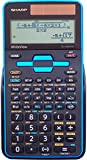 Sharp Calculators EL-W535TGBBL 16-Digit Scientific Calculator with WriteView, 4 Line Display, Battery and Solar Hybrid Powered LCD Display, Black & Blue, Black, Blue, 6.4' x 3.1' x 0.6' x 6.4'