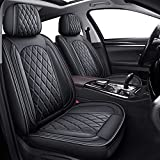 5 Car Seat Covers Full Set, MIROZO Vehicle Cushion Cover Breathable Fit for Most Sedan, Truck and SUV for Elantra Sonata Sportage CRV Accord Chevy Equinox (Black)