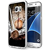 Personalized Baseball Bat Case for Samsung Galaxy S7 Edge Phone Cover Clear Silicone Protective Case for Samsung Galaxy S7 Edge