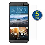 eTECH Collection 5 Pack of Crystal Clear Screen Protectors for HTC ONE M9 2015 Model (ATT, T-Mobile, Sprint, Verizon) (NOT for HTC M8 2014)