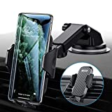 Universal Car Phone Mount VICSEED Car Phone Holder for Car Dashboard Air Vent Windshield Long Arm Strong Suction Cell Phone Car Mount Fit with iPhone 11 Pro X XS Max XR Galaxy Note10 S10 & All Phones