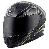ScorpionExo EXO-GT920 Satellite Full Face Modular Helmet (Black/Neon, Large)
