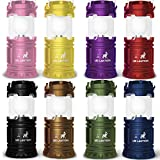 MalloMe LED Camping Lantern Flashlights 8 Pack - Super Bright - Portable Outdoor Lights (Multicolored) AA Batteries Not Included