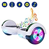 YHR 6.5 Inch Hoverboard with Bluetooth W/Speaker, LED Wheels and LED Lights for Kids and Adult …
