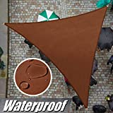 ColourTree Custom Size 15' x 15' x 15' Brown TADT16 Triangle Waterproof Sun Shade Sail Canopy Awning Shelter, 95% UV Block Water Resistant, Garden Carport Outdoor Patio (We Customize)