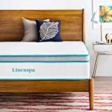 LINENSPA 12 Inch Gel Memory Foam Hybrid Mattress - Ultra Plush - Individually Encased Coils - Sleeps Cooler Than Regular Memory Foam - Edge Support - Quilted Foam Cover - Queen