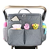 Stroller Organizer, STOON Insulated Waterproof Baby Stroller Organizer Travel Bag Stroller Accessory with Shoulder Strap, Large Storage with Cup Holder for Bottles, Diapers, Toys, Food