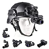 Blu7ive Digital Night Vision Monocular with Helmet Mount, HD Infrared Digital Night Vision Goggles Rifle Scope for Total Darkness Hunting and Surveillance