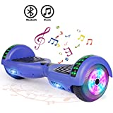 "FLYING-ANT Hoverboard UL 2272 Certified 6.5"" Two-Wheel Bluetooth Self Balancing Electric Scooter with LED Light Flash Lights Wheels Blue (Free Carry Bag)"