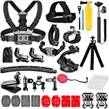 TANSUO Action Camera Accessories Kit Set for GoPro Hero 10 9 8 Max 7 6 5 4 Black GoPro 2018 Session Fusion Silver White Insta360 DJI SJCAM APEMAN AKASO and Others Cameras (28in1)