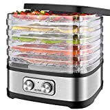 OSTBA Food Dehydrator, Dehydrator for Food and Jerky, Fruits, Herbs, Veggies, Adjustable Temperature Control Electric Food Dryer Machine, 5 BPA-Free Trays Dishwasher Safe, 240W, Recipe Book Included