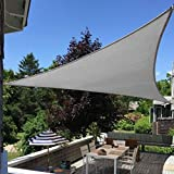 Artpuch 16'x16'x16' Triangle Sun Shade Sails Grey UV Block for Shelter Canopy Patio Garden Outdoor Facility and Activities