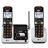 AT&T BL102-2 DECT 6.0 2-Handset Cordless Phone for Home with Answering Machine, Call Blocking, Caller ID Announcer, Audio Assist, Intercom, and Unsurpassed Range, Silver/Black