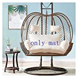 ZHANGYN Hanging Basket Hanging Egg Chair Cushions Double Egg Hammock Chair Pads, Swing Chair Cushion Pad for Indoor Outdoor Garden Hanging Basket Chair, 110x150cm Home Decor (Color : White)