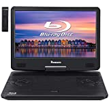 NAVISKAUTO 14' Portable Blu-Ray DVD Player with Built-in Rechargeable Battery, AUX Cable, Supports 1080P MP4 Video, HDMI Input/Output, Dolby Audio
