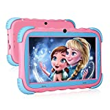 Kids Tablet - 7 inch IPS Eye Protection Display, 16GB ROM,Dual Camera, Parental Control, Kids-Proof Bluetooth WiFi Android Tablet