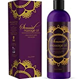 Sensual Massage Oil with Relaxing Lavender Almond Oil and Jojoba for Men and Women – 100% Natural Hypoallergenic Skin Therapy with No Artificial or Added Ingredients - Made by Maple Holistics