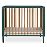 Dream On Me Lucas 4-in-1 Mini Modern Crib with Rounded Spindles I Convertible Crib I Mid- Century Meets Modern I Portable Crib