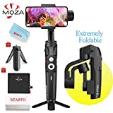 MOZA Mini-S 3-Axis Foldable Pocket Sized Handheld Gimbal Stabilizer 260g Payload with One-Button Zoom, Focus Control, Quick Playback, Hyper-Lapse, Slow Motion, Inception, Vertigo for Smartphone Gopro
