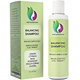 Vitamin Shampoo For Oily Hair & Scalp – Itchy Scalp & Greasy Hair Treatment For Oily & Thinning Hair – Volumizing Shampoo For Women + Men - Purifying Shampoo Sulfate Free with Lemon + Jojoba Oil