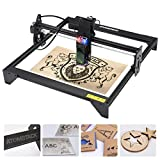 Upgraded Laser Engraver 20W, Eye Protection 5000mw Laser Engraving Cutting Machine CNC, Fixed-Focus Precise DIY Laser Marking 400x410mm for Metal, Vinyl, Wood, Leather, Aluminum, 445 ± 5nm Wave