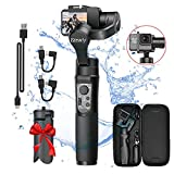 3-Axis Handheld Gimbal Stabilizer for GoPro Action Camera, Splash Proof Gimbal Tripod Stick for Gopro 2018 7/6/5/4, Sony RX0, SJCAM, YI-CAM - Time-Lapse, APP Control, 12h Run time -Hohem iSteady Pro 2