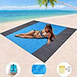 """Mumu Sugar Sand Free Beach Blanket, Extra Large Waterproof Beach Mat-Lightweight Quick Drying Heat Resistant Outdoor Picnic mat for Travel, Camping, Hiking and Music Festivals(82"""" X79"""")"""