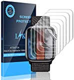 LK [6 Pack] Screen Protector for Apple Watch 44mm Series 4/5 - Max Coverage Bubble-Free Anti-Scratch iWatch 44mm Flexible TPU Clear Film