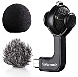 Saramonic G-Mic Stereo Ball Gopro Microphone with Foam & Furry Windscreens Compatible with GoPro HERO3, HERO3+ and HERO4