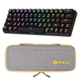 DIERYA DK63 Wireless 60% Mechanical Gaming Keyboard with KEMOVE Keyboard Travel Case, True RGB Backlit Bluetooth 4.0 Wired LED Computer Keyboard, Hard EVA Sleeve Carrying Cover Bag