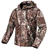 ReFire Gear Men's Soft Shell Military Tactical Jacket Outdoor Camouflage Hunting Fleece Hooded Coat Tree Camo XXX-Large