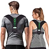 Posture Corrector for Men and Women,Upper Back Straightener Brace,Sticker Adjustable Back Support Brace for Thoracic Kyphosis and Providing Shoulder - Neck Pain Relief (Universal)